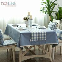 Wholesale Style Bugaboo - New! Original zakka Japanese style table cloth tablecloths coffee table Bubu arts Bugaboo denim blue solid # 18