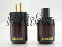 Wholesale Eur Power Plug - Oyaide P-079E EUR SCHUKO Power Plug +C-079 IEC Connector audio