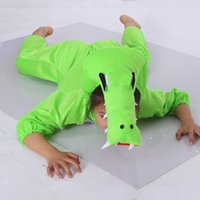 Novità Coccodrillo Animal Costume per bambini Bambini Tema del fumetto Cosplay Vestiti Tute Boy Girls Hallowmas Costume Carnevale Party Birthd