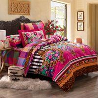 Wholesale Cotton Comforter Sets Queen Sale - Wholesale-2015 Sale Comforter Luxury Bedding Set 4pcs Bedclothes Bed Linen Sets Full queen king Size Quilt duvet Cover Bedsheets Cotton