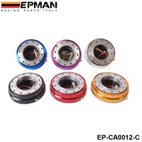 Wholesale EPMAN Hot Selliing Black Thin Version Steering Wheel Quick Release Blue Red Black Golden Silver Purple For Universal EP CA0012 C