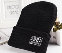 Wholesale Korean Style Beanies - 92 JOURNEY Style Winter Knitted Hat For Man Women Korean Pattern Keep Warm Outdoor Beanie Skull Caps Mix Colors