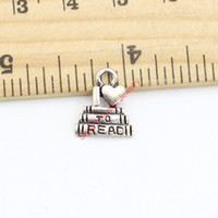 Wholesale read love - Tibetan Silver Plated I love to Read Charms Pendants for Bracelets Necklace Jewelry Making DIY Handmade Craft 14x12mm Jewelry making DIY
