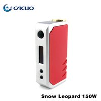 Wholesale Leopard Ecig - 100% Authentic ECig Vape Mods Encom Snow Leopard 150w with Dual 18650 Battery VS Snow Wolf Kangertech Subox Mini Nebox Eleaf Istick