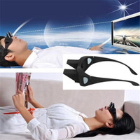 Wholesale Lazy Eye Glasses - Newest Creative Lazy Periscope Horizontal Reading Glasses Watch TV Lie Down Mirror Turn Page 90° View Eye Glasses 6Pcs Lot Free Shipping