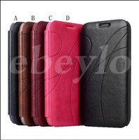 Wholesale Galaxy S3 Credit Card - For Galaxy S3 S4 Oscar II Series Flip Ultrathin Leather Phone Case Cover with Credit Card Slot for Samsung Note 2 N7100 i9300