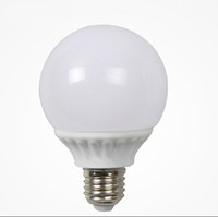 Wholesale pc globe bulb for sale - Group buy New arrival beam angle E27 base round bulb energy saving light white and warm white PC shell