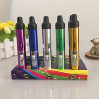 mini nargile kalemleri toptan satış-Tıklayın n vape Mini Bitkisel Buharlaştırıcı kalem sigara boru Roket boru dahili Rüzgar Korumalı Fener Çakmak kalem