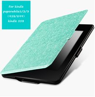 Per paperwhite1 / 2/3 (958/899) kindle558 Custodia protettiva per Kindle Custodia in pelle per Ebook Cover Clamshell Ultra Thin Hibernation