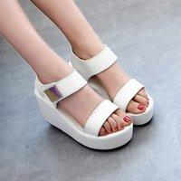 Wholesale Asian Heels - Hot Sale Women Wedges Sandals Fashion Casual Platform Sandals Metal Decor Summer Shoes Asian Size 36-39 TX0287