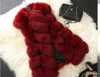Wholesale Women Winter Leather Vest - 2Women's clothing New Women Silver Fox Fur Vest gilet New Fur coat Women Slim Sleeve Full leather jacket Women Fox Fur Coat Winter Coat