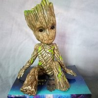 Wholesale Action Man Car - Baby Toys 6cm Sitting Tree Man Groot Action Figure Cartoon Movie Groot Figures Toys for Car Desktop Decoration Gifts