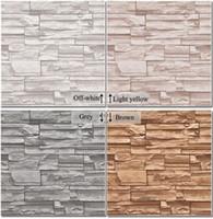 Wholesale Vinyl Stone - Modern 3D three-dimensional design wallpaper roll stone brick background wall vinyl wall paper living room wallcovering W025