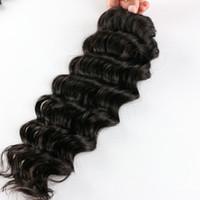 ingrosso capelli misti di capelli ricci peruviani-Peruviana Deep Wave Weave Hair Extension Mix Lunghezza 3PC Capelli Bundle Grado 7A Peruviano Reale Capelli Umani Profondo Riccio