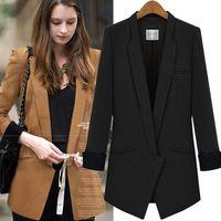 Wholesale Womens Shorts Jacket Suit - Elegant Autumn Womens Business Suit Feminino Formal Jacket Ladies Suits Blazers Top 2017 New Plus Size