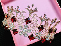 estudios rojos al por mayor-2016 hit La corona de la reina princesa de lujo de lujo de gama alta corona de oro vestido rojo accesorios accesorios de estudio