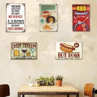 Atacado - Placas de lata vintage Café Menu 7 up Cake Beer Bar Coffee Pub Decoração para casa Craft Wall Painting Decoration