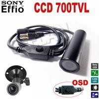 Wholesale Effio Mini Bullet - 700TVL OSD mini bullet camera Sony Effio Wide Angle ccd mini cctv camera Security Camera night vision Bullet Security Camera 4140+672\673