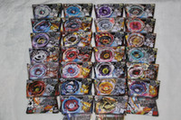 Wholesale New Beyblade Sets - Wholesale-New Rare Metal Beyblade 4D Launcher Grip Top Set Rapidly Spinning Fight Masters Toy Free Shipping M088