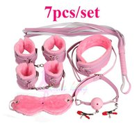 Wholesale Alternative Suit - Sex Toys Cotton rope Handcuffs Ankle Bracelets Suit Collar Ropes Plug a Whip Alternative Toy of Bondage Sex Alternative Toys