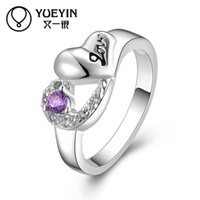 Wholesale Order Finger Ring - Lovely design Christmas gift 925 Sterling Silver ring gem rings DFMR465 Silver plated new design finger ring 10 pieces a lot can mix order