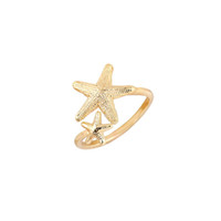 Wholesale Stretch Bands For Rings - 10pcs New Fashion Ring Open Twinkle Stretch Star Ring Nautical Beach Starfish Ring for Women Birthday Gifts jz165