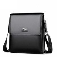 Wholesale Large Mens Messenger Bag - 2017 new arrival briefcase mens handbag leather pu fashion messenger bags men large capacity laptop bag free shipping