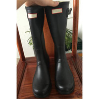 Wholesale Pink Galoshes - Women Wellies Rainboots Ms. Glossy Wellington Rain Shoe Rainshoes Wellington Knee Boots Waterproof Water Proofing Matte Shoes Galoshes