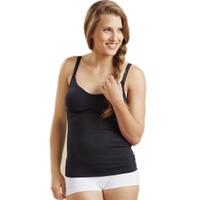 Wholesale Breastfeeding Tops L - Women's Wire-Free Sleep Nursing Bra Tank Breastfeeding Maternity Tops Pregnancy Undershirt With Removable Foam Cups