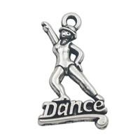 dansçı takılar toptan satış-50 adet Takı Bulguları Vintage Dansçı Dans Alaşım Charms 15 * 26mm AAC949