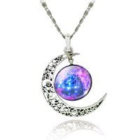 Wholesale Skeleton Necklaces - Moon Shape Jewelry Bridesmaid Wedding Gift Thin Necklaces Collares 2016 populares Quidditch Harry Potter Charm Snitch Pendent