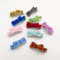 20pcs / Lot Velvet мини-зажим для волос Fashion Fall Velor Hairpin Winter Super Small Hair Grip Аллигатор-бутик Princess Barrette