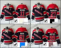 Wholesale Winter Jacke - 2016 New, Old Time Hockey Jerseys Cheap New York Rangers #11 27 61 99 Mark Messier Jersey Fleece Hoodie Jersey Sweatshirt Winter Jacke