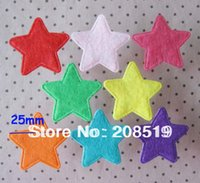"""Wholesale Accessories Jewelry Craft - Wholesale-PA0006 Decorative non-woven flower 400pcs mixed 25mm&1"""" Star shape Felt Craft jewelry accessory"""