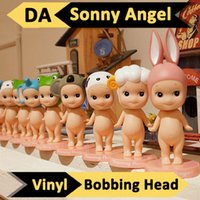Wholesale Mini Doll Figurine Wholesale - Wholesale-6pcs Set Bobbing Head Sonny Angel Dreams Doll Baby Mini Figurine Animal Series Toys Car Decoration Ornament Sonny Angel Baby