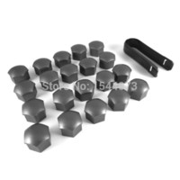 Wholesale Lug Nuts Wholesale - Genuine 20pc Wheel Lug Nuts Center Cover Cap 321601173A + Removal Tool For Audi A1 A3 A4 A5 A6 A7 A8 Q5