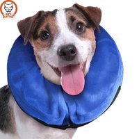 Wholesale Pet Dog Health - Creative New Inflatable Pet Collar Health Dog Cat Vet Approved Elizabethan Wound Healing Protection Medical Cone Collar