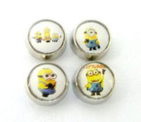 Wholesale Wholesale Minion Charms - NEW 20PCS lot Mix Minions Floating Charms DIY Alloy Accessories Fit For Magnetic Glass Living Locket