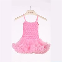Wholesale Latest Childrens Dresses Polyester and Cotton Material TuTu Dresses Pink Color and High Quality Baby Girl Holiday Dresses PT005