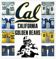Wholesale Bears Red - NEW NCAA California Golden Bears College Marshawn Lynch 10 Aaron Rodgers 8 17 DeSean Jackson 1 2017 STITCHED JERSEY FOOTBALL