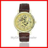 Wholesale Tan Color Belts - Automatic Watch Mens Watches Leisure Watches for Mens Hollow Design Delicate Dial Men's Watch Luxury Watches Quartz Relogio Noctilucent