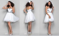 Billig 2015 Sexy White Party Cocktail Kleider Plus Size Schatz Mini Ballkleid Sequined Heimkehr Kleider Bogen Backless Graduation Kleider