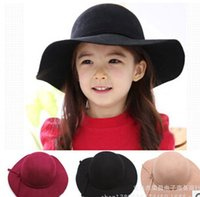 Wholesale Nice Cap Girl - 2015 New Chlidren Hats Bowknot Beach cap Kids Gir Fashion Nice Hats Children Nice Beach cap Chlidren Hats CC