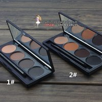 Wholesale Danni Eyebrow Powder - Wholesale-Danni Cosmetics Professional 4 Color Waterproof Eyebrow Shaping Powder Palette + Brush Eye Shadow Eye Brow Makeup Kit Set