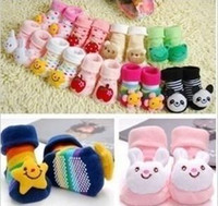 Wholesale Socks Child Shoes - Baby Animal Socks Newborn Baby Boys Outdoor Shoes Infant Girls Anti-slip Walking Children Warm Sock kids Gift