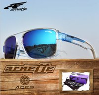 Wholesale Girls Grey Tops - Hot sell top sport men woman Europe US ARNETTE Sunglasses outdoor riding sports sunglasses mirror 2071 UV400 free shipping