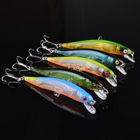 Wholesale Lures Sale - 10CM Classic Lures Plastic Hard Bait Bionic Lures Fishing Gear 5 Colors Fishing Hooks Fishing Lures Hot Sale 2502005