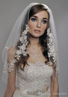 Wholesale Black Veil Accessories - Short Wedding Veil Custom Made Appliques Tulle Free Shipping One Layer Ready To Ship Fast Delivery 2015 Bridal Veils Wedding Accessories