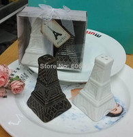 Eiffel Tower Ceramic Salt and Pepper Shakers Wedding Favors and Gifts for Guest 100pcs(50sets) wholesale