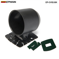 vainas de calibre 52mm al por mayor-EPMAN - Gauge Pod 52mm Universal Gauge Cup Car Mount Holder Plástico Solo Auto Car Meter Pods Dash Pod Soporte de montaje EP-CV52-BK
